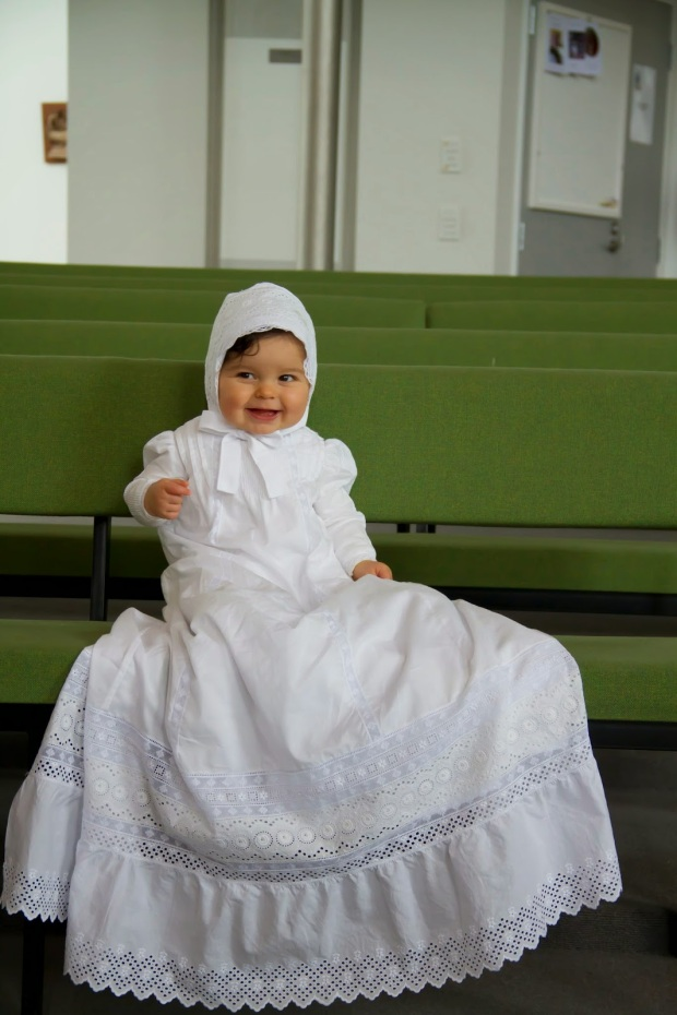 handmade christening gown by Constanca Cabral