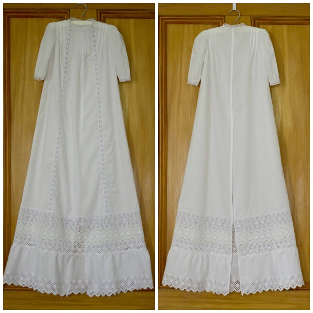handmade christening gown by Constanca Cabral heirloom sewing