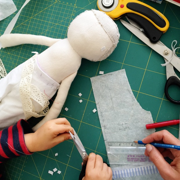 making a doll - Constanca Cabral