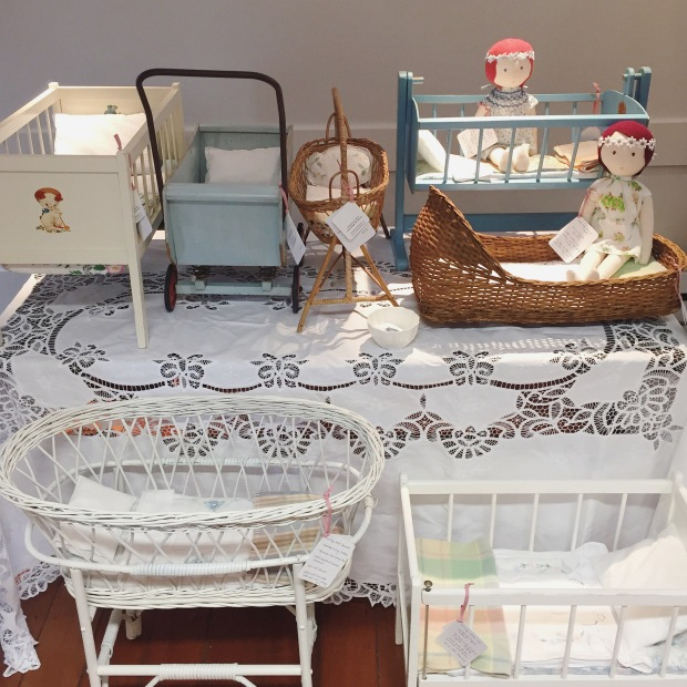 selling vintage doll cots and eco dolls by Constanca Cabral