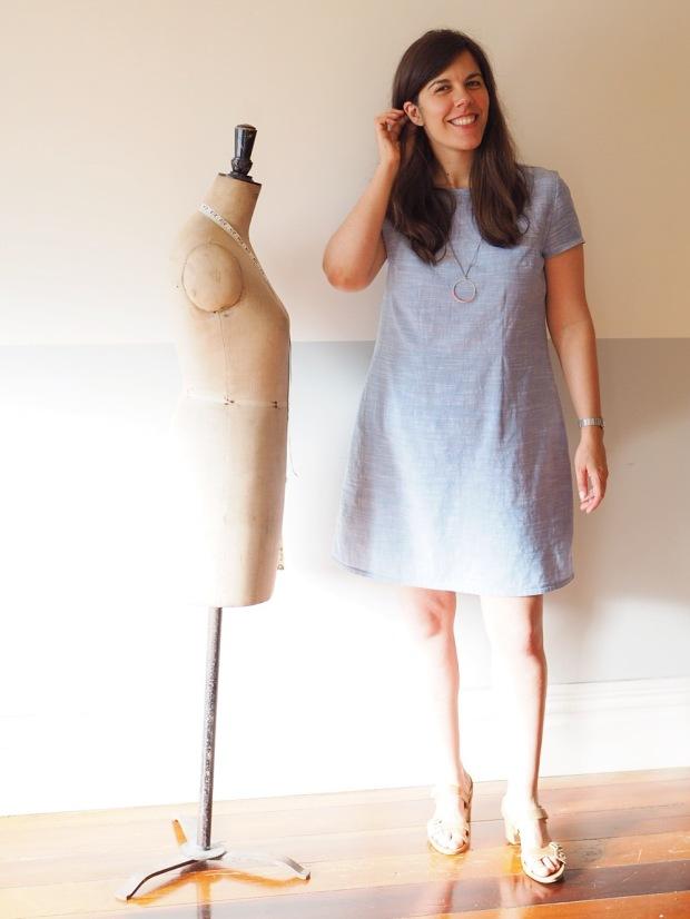 the Camber Set Dress with contour darts